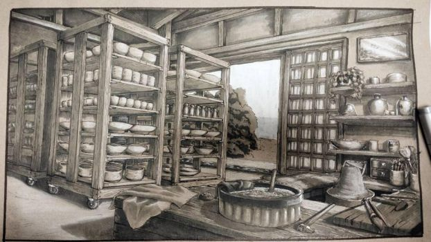 Project: Pottery work space by zPinkTuna