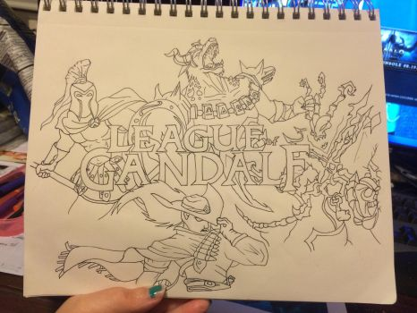 League of Gandalf Line Work by The1DK