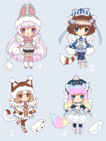 Winter BB adopts (closed) by SilverChaim