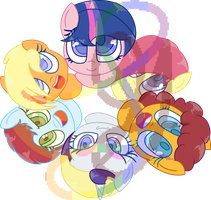 Next Gen Mane 6 by LilyGarent