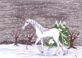The last Unicorn - winter by Neri-chan