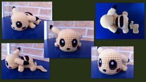 Baby Pikachu (with pattern) by aphid777