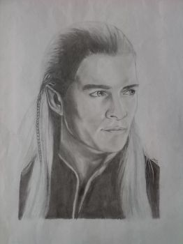 Legolas (Orlando Bloom) by ElizabetaGreenleaf