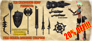 Tera - Assassin Weapons .: Download :. MMD by kaahgome