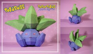 Oddish pokedoll papercraft by Lyrin-83