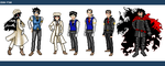 Pixel Dolls - Walter and Alucard by ErinPtah