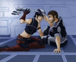 Shepard trade - Who's the pilot now ? by Selkys