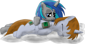 Littlepip and Homage on pillows by JetWave