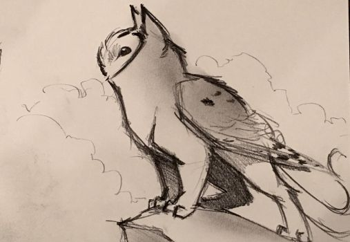 Owl Griffin Doodle by RobtheDoodler