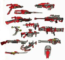 Power Rangers Weapons by BadDogg
