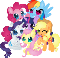Mane 6 by Transfixt