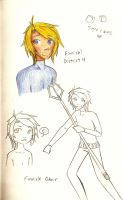 THG- Finnick Sketches by oofuchibioo
