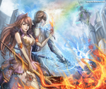 :: The Fire Witch and the Ice Wizard :: by Sangrde