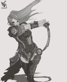 Warrior Girl by Massi74