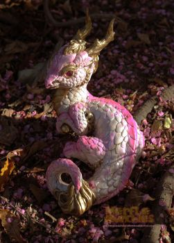 Cherry Blossom Eastern Dragon by The-SixthLeafClover