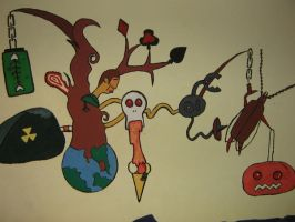 another paint in the wall by clau17art