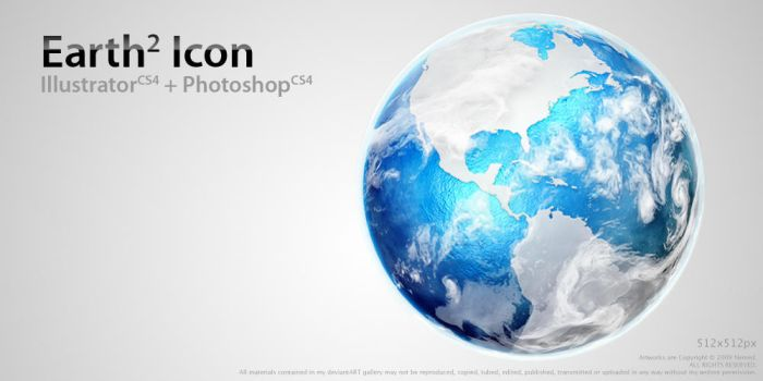Earth Icon 2 by Nemed