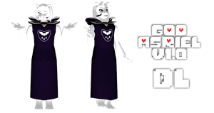 MMD Undertale - God Asriel v1.0 by MagicalPouchOfMagic