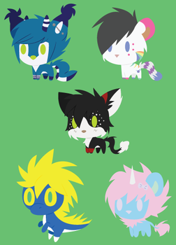 Chibis by Kimmorz