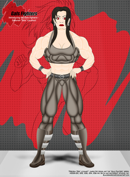Introducing the Gals Fighters No.3 - Debi by BlackSandrock10