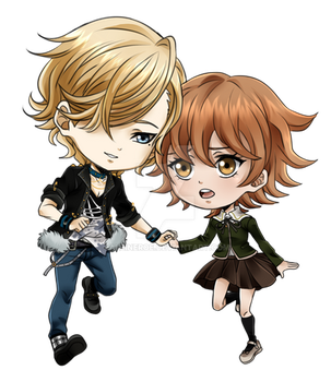 Danganronpa Chibi love by Aleude