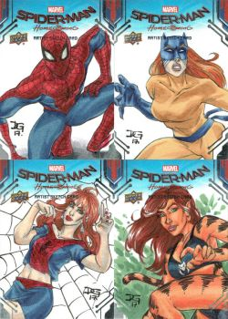 Spider-Man: Homecoming sketch cards by mechangel2002