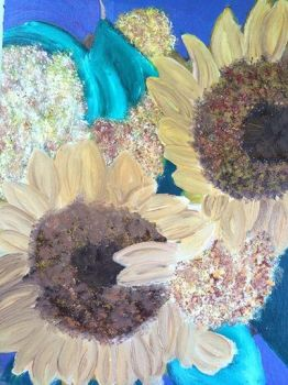 Sunflowers Still life in oil by ArtisticPaintbrush