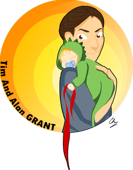 Request 2 years ago serie - Tim and Alan Grant by MissTurtleLittle