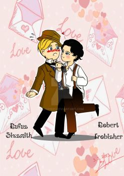 Robert Frobisher and Rufus Sixsmith chibi version by Lad1991