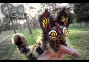 --Sold-- Poseable Baby Dragon Fox! by Wood-Splitter-Lee
