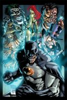 Batman and villains colored by Dany-Morales