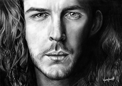 Graphite drawing of Hozier (A4) by MarlouJ