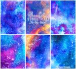To the Stars - WATERCOLOR STOCK PACK by AuroraWienhold