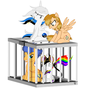 Caged Ship - Commission by JewledFaith by Lightning-Bliss