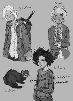 OC sketches by LizzySky