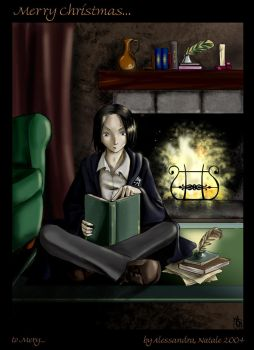 Xmas gift -- Young Snape by funny-neko