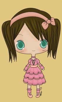 Chibi in Pink Recolour by Vipvoo