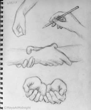 Hand Practice by MayaAtMidnight