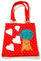 Tree Tote - Red by deconstructedstars