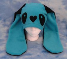 Blue Heart Nose Bunny Hat by HatcoreHats