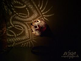 FLORUAN gourd lamp night III by EvaLightArt