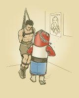 PUNCHING BAG WORK OUT by rhobdesigns