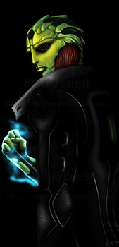 Thane Krios (wip) by Barguest