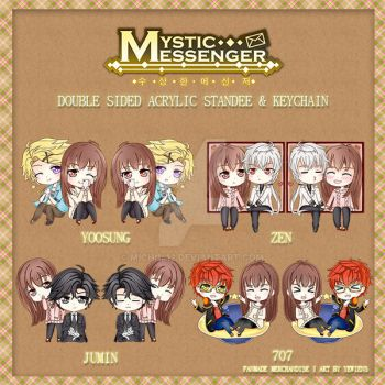 Pre-Order Mystic Messenger Standee / Keychain by michi1412