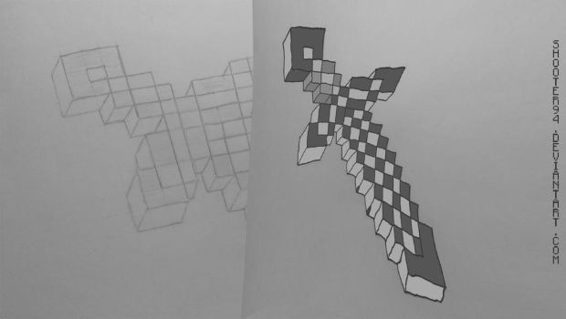 Minecraft Sword by Shooter94