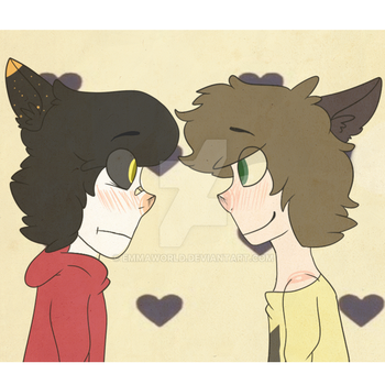 TWO GAY CATS by EmmaWorld