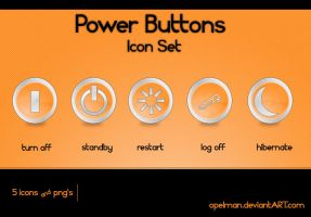 Power Buttons Icon Set by opelman