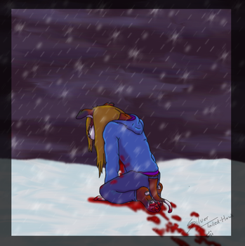 .:Bloody Snow:. by Silver-TailedHawk