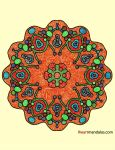 Something Orange for Dax--Mandala by Dygyt-Alice