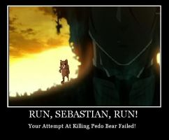 run away from pedo bear sebby by FamishedZero
